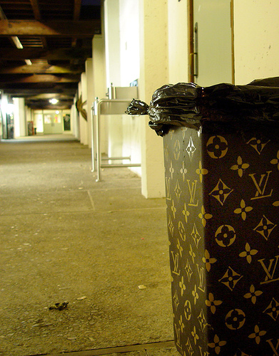 louis vuitton trashcan photo